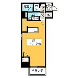 カスタリア栄[9階]の間取り