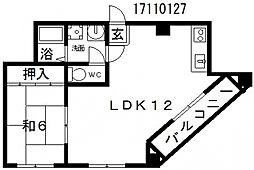大拓ハイツ12[5階]の間取り