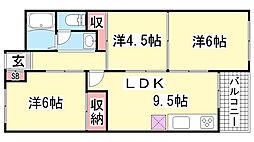 兵庫県神戸市兵庫区菊水町10丁目の賃貸マンションの間取り