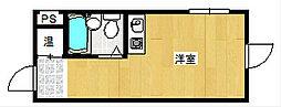 パインリーフ天下茶屋[3階]の間取り