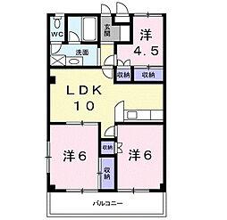 ガーデンコート大喜[1階]の間取り