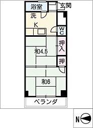 マンション丸由[3階]の間取り