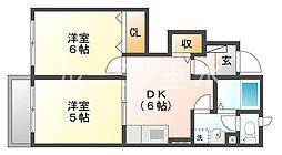 ビレッジコート3[1階]の間取り