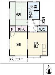 オアシス雁宿[1階]の間取り