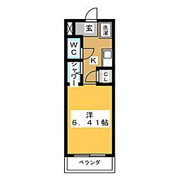 N.S.ZEAL東別院[11階]の間取り