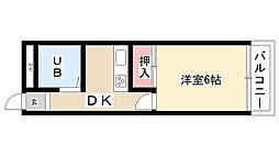愛知県名古屋市南区鳥山町1丁目の賃貸アパートの間取り