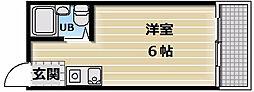 メロディーハイム小阪[1A号室]の間取り