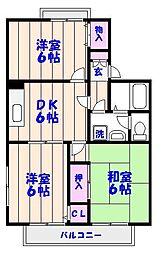 ホームサイト原木[103号室]の間取り
