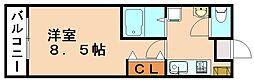 コスモ8[8階]の間取り