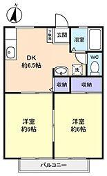 メゾンファミーユ[1階]の間取り