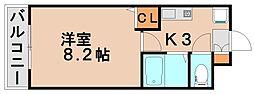 福岡県春日市白水ヶ丘2丁目の賃貸マンションの間取り