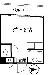 ケーズキューブ[302号室]の間取り