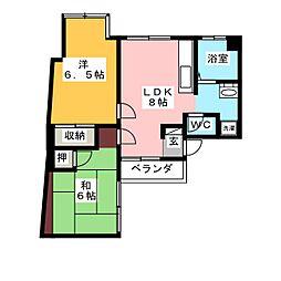 松久コーポ[4階]の間取り