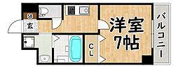 Osaka Metro谷町線 平野駅 徒歩4分の賃貸マンション 4階1Kの間取り