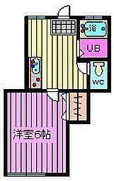 ハウス堀北 オーナー注意[1階]の間取り