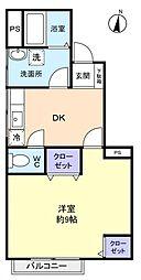 カサフローラ勝田台[3階]の間取り