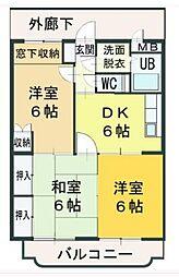 ハイランドマンション多田[1-303号室]の間取り