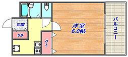 ブリード神戸壱番館[102号室]の間取り