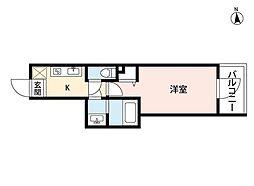 東京メトロ東西線 神楽坂駅 徒歩9分の賃貸マンション 1階1Kの間取り