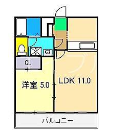 ADDRESS HARIMAYA[3階]の間取り