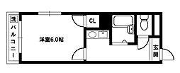 アドバンス豊新[4階]の間取り