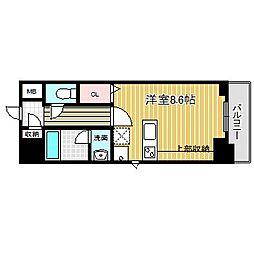 JR中央本線 金山駅 徒歩11分の賃貸マンション 10階ワンルームの間取り