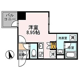 JR東北本線 東大宮駅 徒歩3分の賃貸マンション 4階ワンルームの間取り