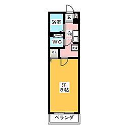 ラフレ前田[2階]の間取り