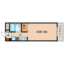 JR関西本線 三郷駅 徒歩8分の賃貸マンション 4階1Kの間取り