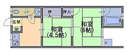 堀ノ内荘[2階]の間取り
