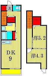 ブリューテ[2階]の間取り
