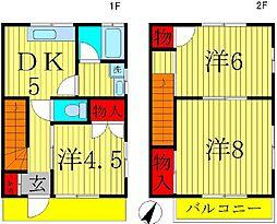 テラスハウス田中 3号棟 3DKの間取り
