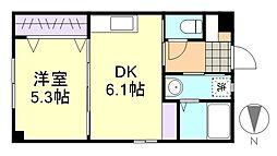 藤ガーデン[1階]の間取り