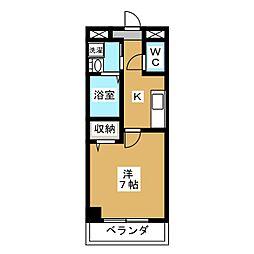 ヒラソル・ナツA[2階]の間取り
