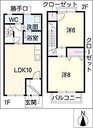 [タウンハウス] 愛知県常滑市西之口7丁目 の賃貸【/】の間取り