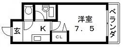 コートビュータワー[205号室号室]の間取り
