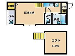 エスポワール博多3[2階]の間取り