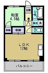 ルーエ大和田[302号室]の間取り