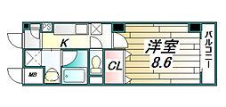 サンシャイン北神戸[2階]の間取り