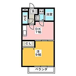 Village,EmonI[2階]の間取り