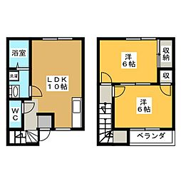 メゾンプレージュ[2階]の間取り