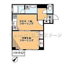 東京都品川区旗の台3丁目の賃貸マンションの間取り