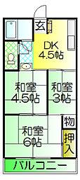 諏訪ノ森マンション[1階]の間取り