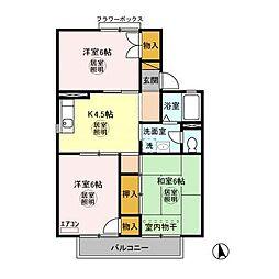 ツインハイムA[2階]の間取り