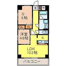 グランデューク千代田[5階]の間取り