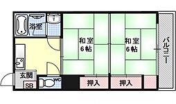 小笹マンション[401号室号室]の間取り
