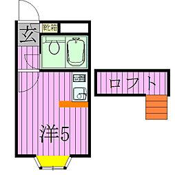 マインツインメル北松戸[104号室]の間取り