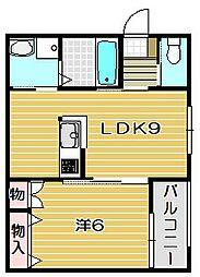 大阪府摂津市三島3丁目の賃貸マンションの間取り