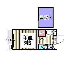フラットエムズ[2階]の間取り
