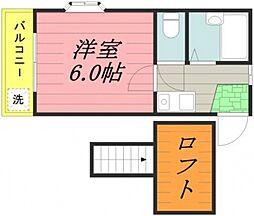 千葉県柏市泉町の賃貸アパートの間取り